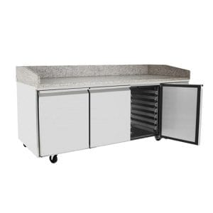 ATOSA 3 Door Refrigerated Pizza Table