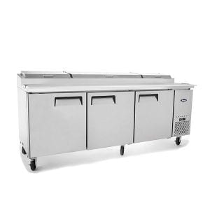 ATOSA Three Door Pizza Prep Table Refrigerator