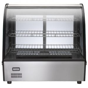 Birko 1040061 HOT FOOD DISPLAY SHOWCASE 3 SHELF 120L 10AMP